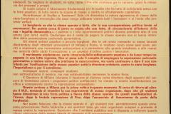Volantino Movimento Studentesco Milanese